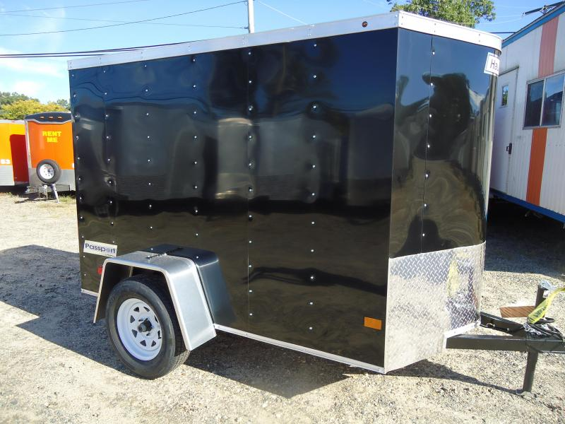 2018 Haulmark 5X8 PPT DS2 LD RAMP BLACK Enclosed Cargo Trailer