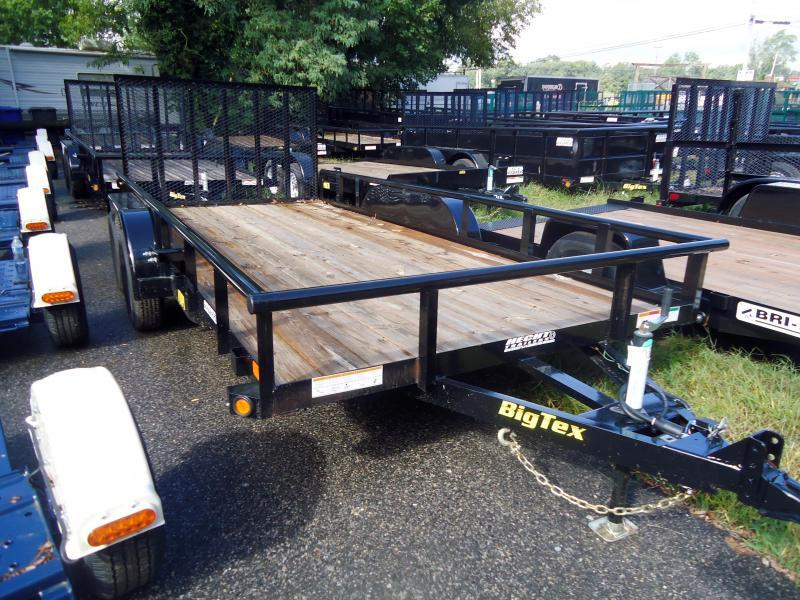 2019 Big Tex Trailers UT 7X20 70PI 20X BK 4SIR BLACK Utility Trailer
