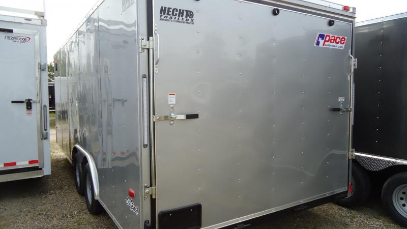 2020 Pace American 8.5X20 OB TE2 RAMP SVNTS SILVER Car / Racing Trailer