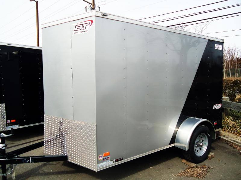 2019 Bravo Trailers 6X10 SC SA V RAMP MINI VNT APP SILVER BLACK Enclosed Cargo Trailer