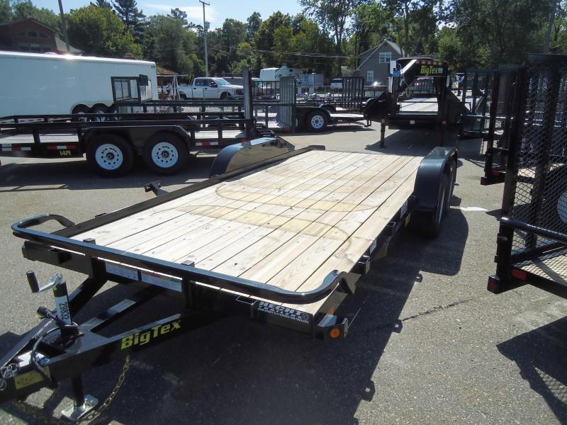 2018 Big Tex Trailers CH 7X16 70CH 16BK4 SIR DT ADJ COUP BLACK Car / Racing Trailer