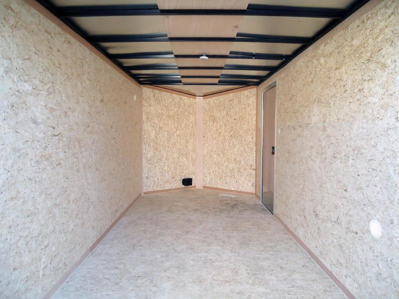 2019 Pace American 7X14 OBDLX TE2 SVNTS WHITE Enclosed Cargo Trailer