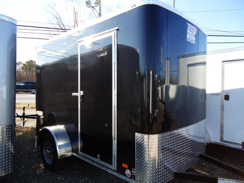 "2019 Bravo Trailers 6X10 SC SA 6""X RAMP SCOUT+ APP BLACK Enclosed Cargo Trailer"