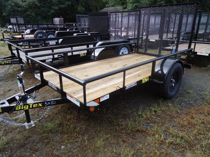 2019 Big Tex Trailers UT 5X10 30SA 10BK 4RG BLACK Utility Trailer