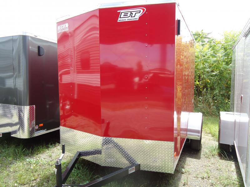 2017 Bravo Trailers 6X10 SC SA 6IN X LD RAMP APP RED Enclosed Cargo Trailer