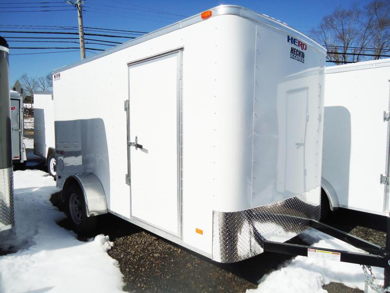 2019 Bravo Trailers 6X12 HR HERO SA SVNT WHITE Enclosed Cargo Trailer