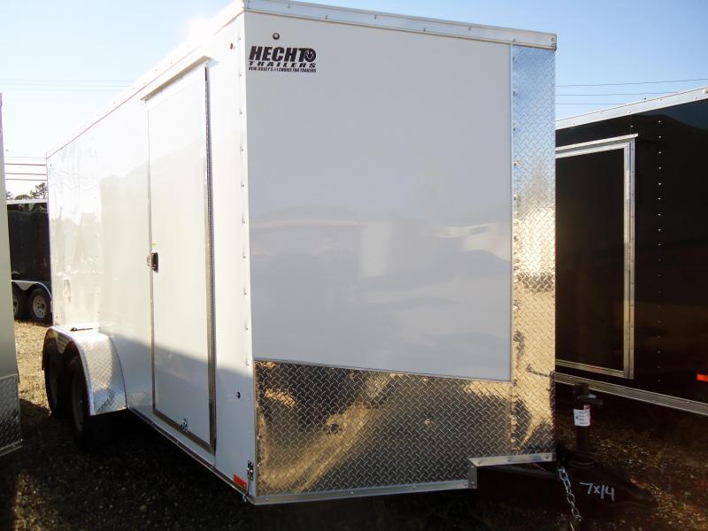 "2019 Pace American 7X14 JVSE TE2 30""SV 6""X RAMP SVNTS WHITE Enclosed Cargo Trailer"