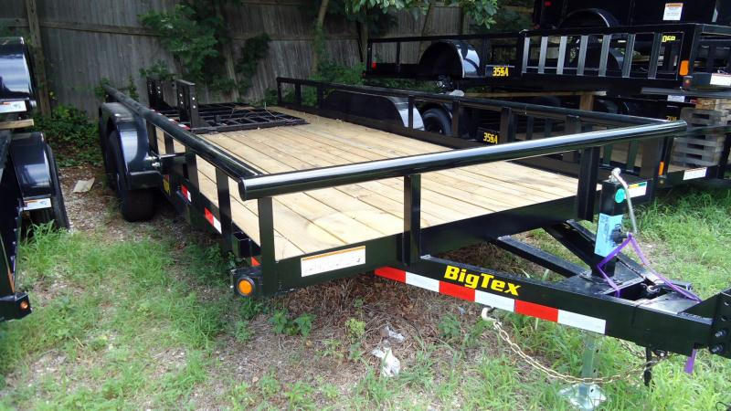 2020 Big Tex Trailers UT 7X18 10PI 18BK 4HD RG BLACK Equipment Trailer