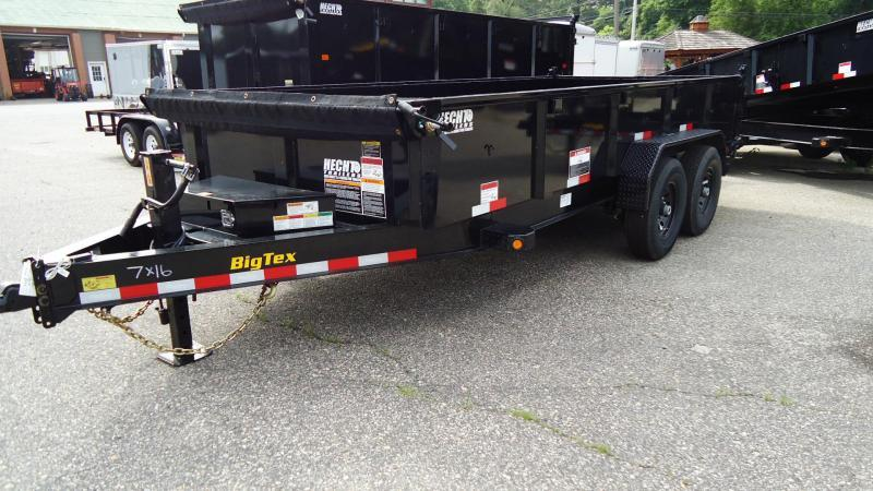 2019 Big Tex Trailers DT 7X16 14LP 14BK 6SIRPD BLACK Dump Trailer
