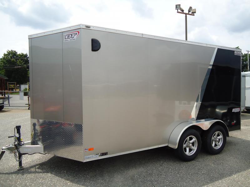 "2016 BRAVO 7X14ASC TA2 V ALUM 6""X MD RAMP CHAMPAGNE & BLACK Enclosed Cargo Trailer"
