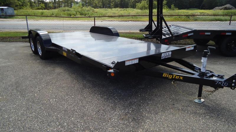 2020 Big Tex Trailers CH 7X20 70DM 20BK WOOD BLACK Car / Racing Trailer