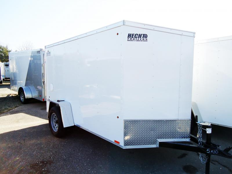 2019 Pace American 5X10 OBDLX SI2 24VS RAMP SVNTS WHITE Enclosed Cargo Trailer