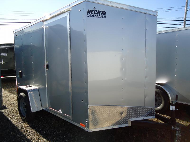 2019 Pace American 6X10 OB RAMP SVENTS SILVER Enclosed Cargo Trailer