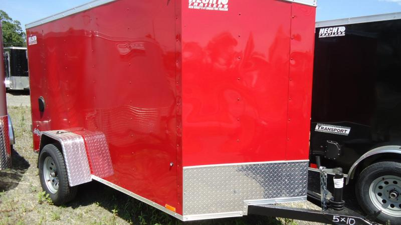 2020 Pace American 5X10 OBDLX SI2 24VS RAMP RED Enclosed Cargo Trailer