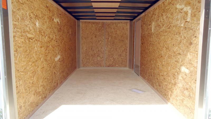 2020 Pace American 7X14 OB TE2 RAMP WHITE Enclosed Cargo Trailer