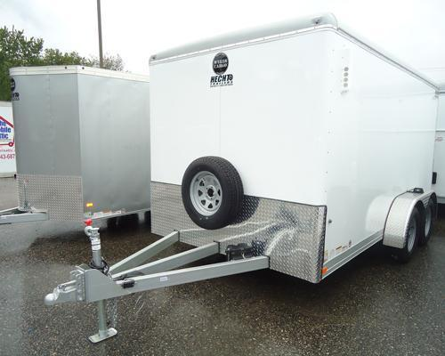 2015 Wells Cargo 7x16CW ADJ CPLR XAFRM LS PKG Enclosed Cargo Trailer
