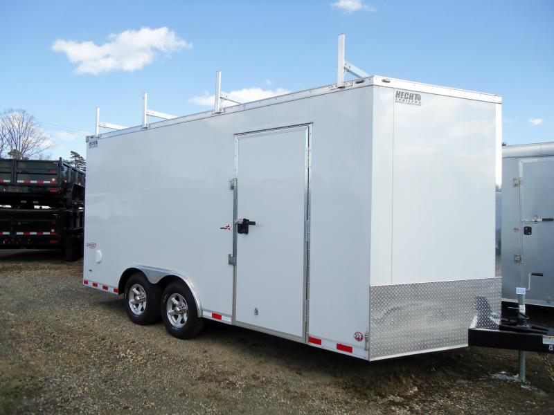 "2019 Bravo Trailers 8.5X16 ST TA3 V 6""X RAMP LDR RCK WHITE Car / Racing Trailer"