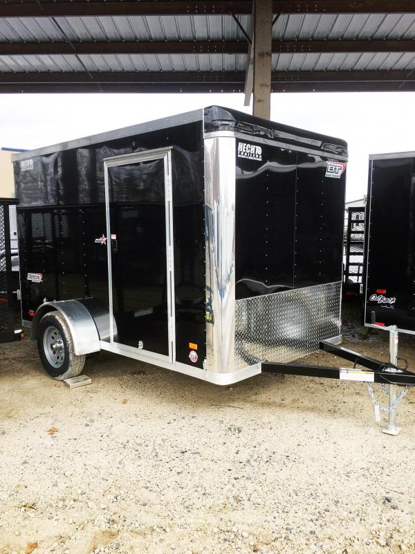 2018 Bravo Trailers 6X10 ST SA APP BLACK Enclosed Cargo Trailer