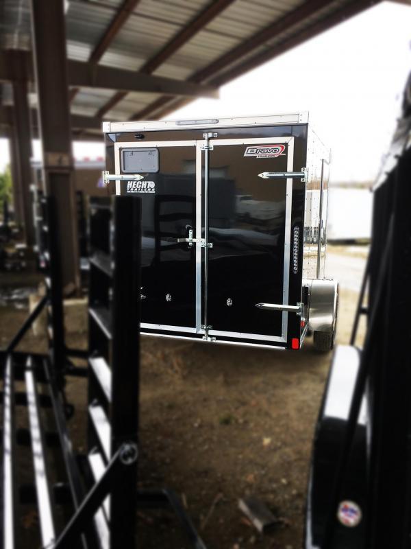 2018 Bravo Trailers 6X10 ST SA APP BLACK Enclosed Cargo Trailer