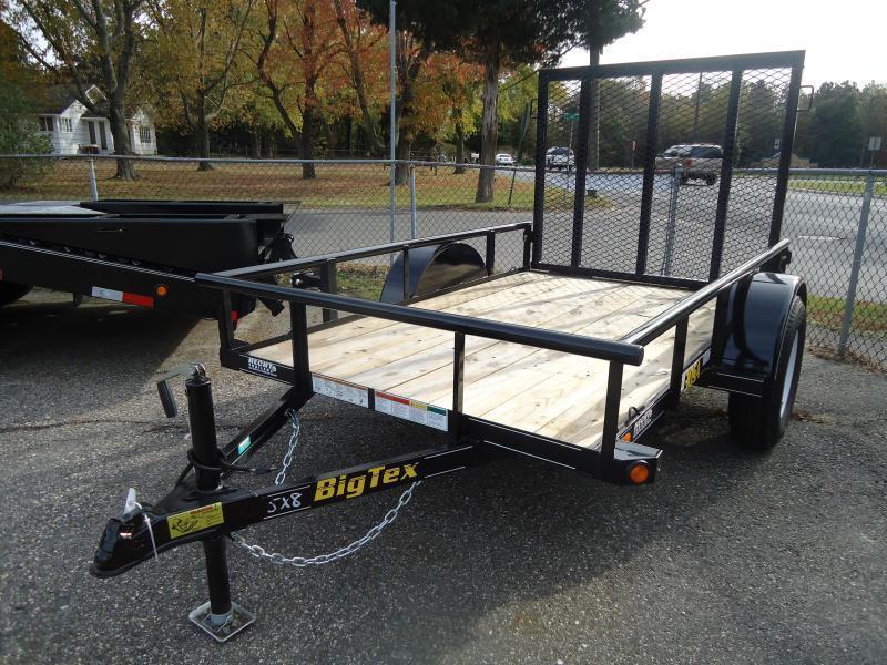 2019 Big Tex Trailers UT 5X8 30SA-08BK4RG BLACK Utility Trailer