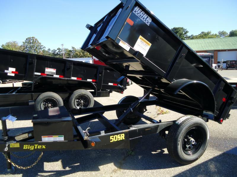 2020 Big Tex Trailers DT 5X8 50SR-08BK 5WDD DBL DOOR BLACK Dump Trailer