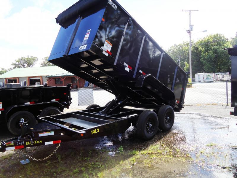 2019 Big Tex Trailers DT 7X14 14LX 14BK P4 7SIR BLACK Dump Trailer