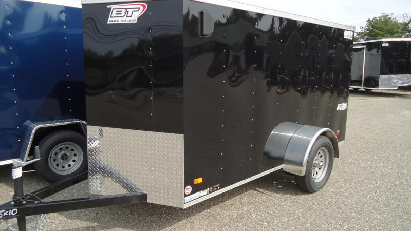 2020 Bravo Trailers 5X10 SC SA 18V RAMP APP BLACK Enclosed Cargo Trailer