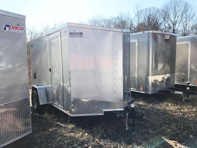 "2019 Pace American 6X10 OBDLX SI2 24""SV RAMP SVNTS SILVER Enclosed Cargo Trailer"