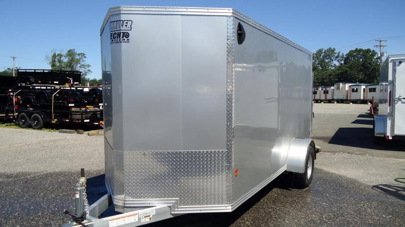 2019 E-Z Hauler 6X12 EZEC SA V RAMP DRNG SILVER Enclosed Cargo Trailer