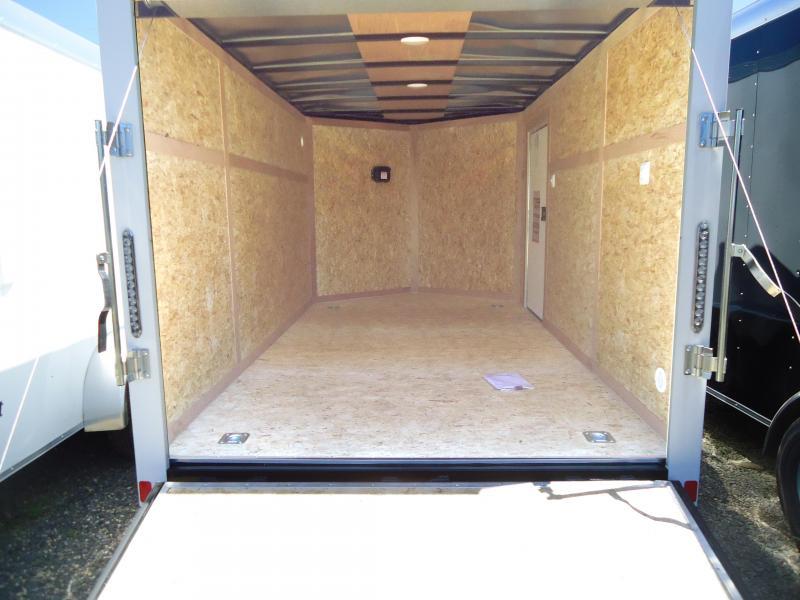 2019 Bravo Trailers 7X12 ST TA2 V DRNG RAMP+ APP WHITE Enclosed Cargo Trailer