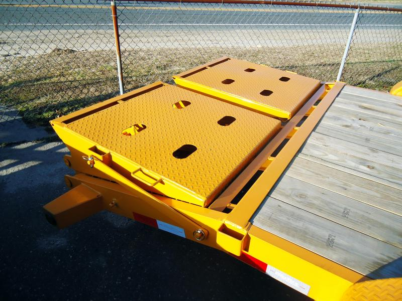 2019 Big Tex Trailers EH 7X18 14ET 18YE 5SUKR MEGA RAMPS YELLOW Equipment Trailer