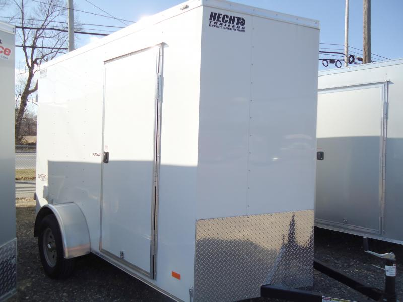 "2019 Bravo Trailers 6X10 SC SA V 6""X APP WHITE Enclosed Cargo Trailer"