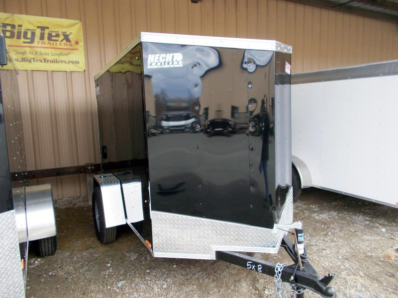 2019 Pace American 5X8 OBDLX SI2 SV SVNTS BLACK Enclosed Cargo Trailer