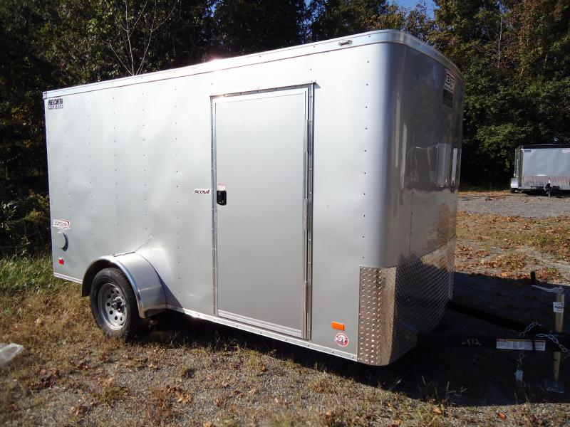 2019 Bravo Trailers 6X12 SC SA LD RAMP SILVER Enclosed Cargo Trailer