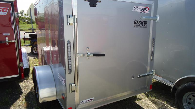 2020 Bravo Trailers 5X8 SC SA APP SILVER Enclosed Cargo Trailer