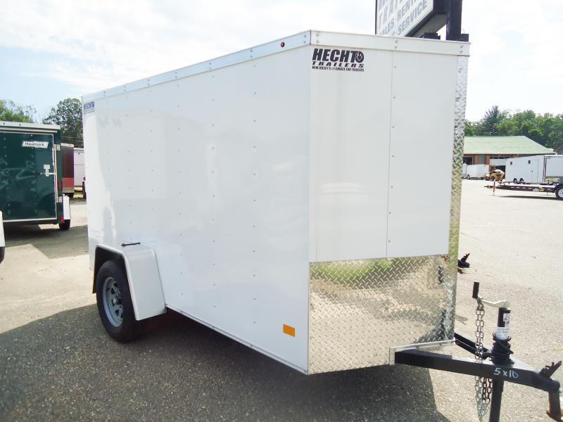 2017 Haulmark 5X10TH DS2 LD RAMP WHITE Enclosed Cargo Trailer