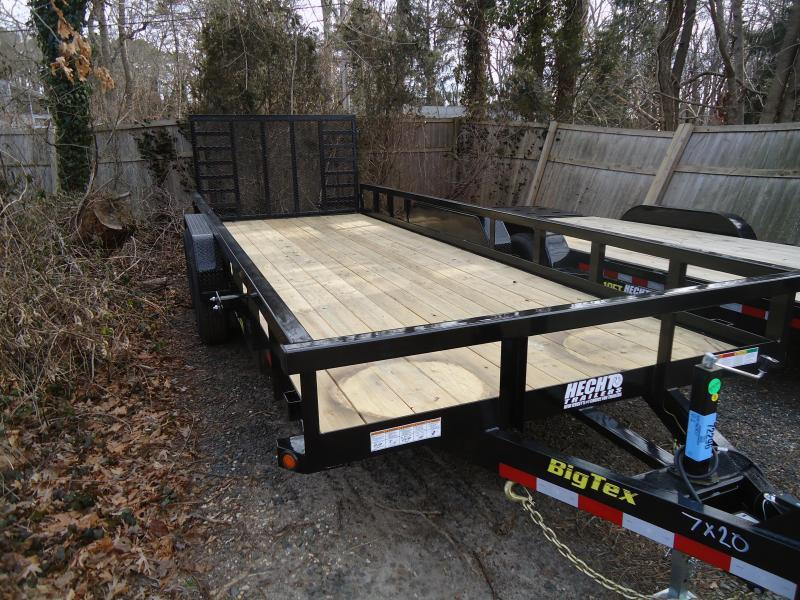 2019 Big Tex Trailers UT 7X20 14PI 20BK BLACK Equipment Trailer