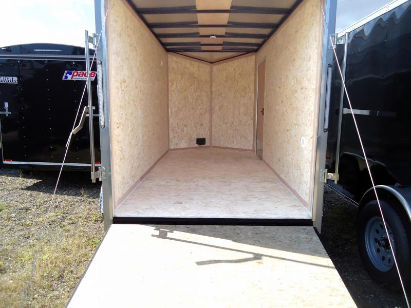 "2019 Pace American 6X12 JVSE TE2 24""VS 6""X RAMP SV SILVER Enclosed Cargo Trailer"