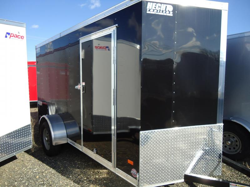 2019 Bravo Trailers 6X12 ST SA V RAMP DRNG MINI VENT BLACK Enclosed Cargo Trailer