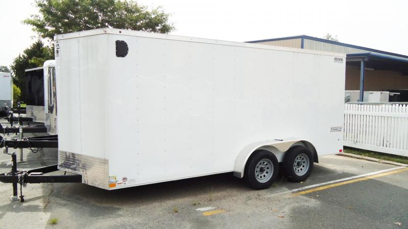 2019 Haulmark 7X16 PPT T2 WHITE Enclosed Cargo Trailer