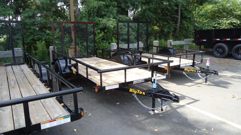 2020 Big Tex Trailers UT 5X12 30SA 12BK 4RG BLACK Utility Trailer