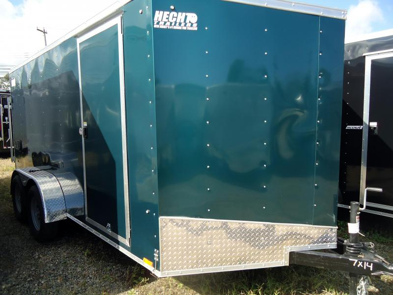 2019 Pace American 7X14 OBDLX TE2 V RAMP GREEN Enclosed Cargo Trailer