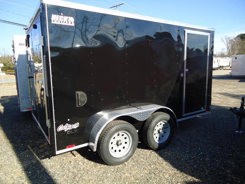 "2019 Pace American 7X12 OBDLX TE2 30""SV RAMP SVNTS BLACK Enclosed Cargo Trailer"