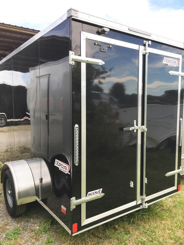 "2018 Bravo Trailers 6X12 SC SA 6""X SC+ PKG APP BLACK Enclosed Cargo Trailer"