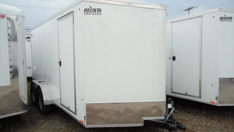 "2020 Pace American 7X14 OBDLX TE2 30VS 6""X RAMP SVNT WHITE Enclosed Cargo Trailer"