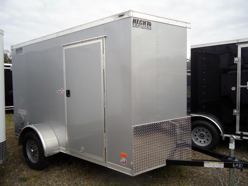 "2019 Bravo Trailers 6X10 ST SA 18""V APP SILVER Enclosed Cargo Trailer"
