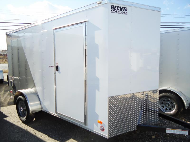 "2019 Bravo Trailers 6X12 SC SA 18""V LD RAMP APP WHITE & SILVER Enclosed Cargo Trailer"