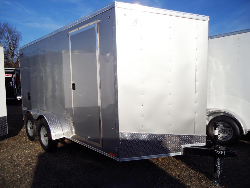 2019 Pace American 7X14 OBDLX TE2 30VS SVNTS SILVER Enclosed Cargo Trailer