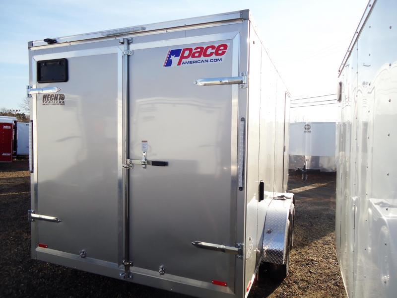2019 Pace American 7X14 OBDLX TE2 30VS SVNTS SILVER Enclosed Cargo Trailer
