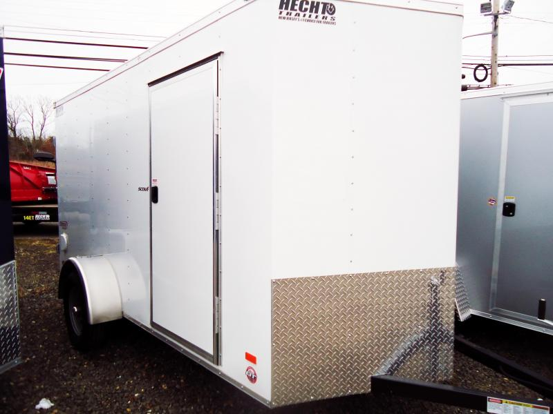 2018 Bravo Trailers 6X12 SC SA V APP WHITE Enclosed Cargo Trailer